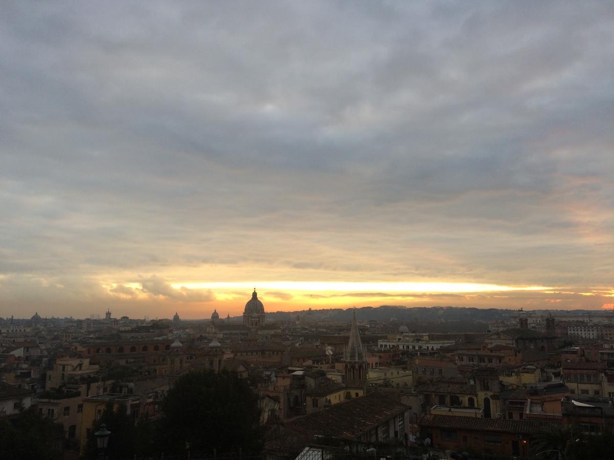 Róma madártávlatból/Az Örök Város januárban